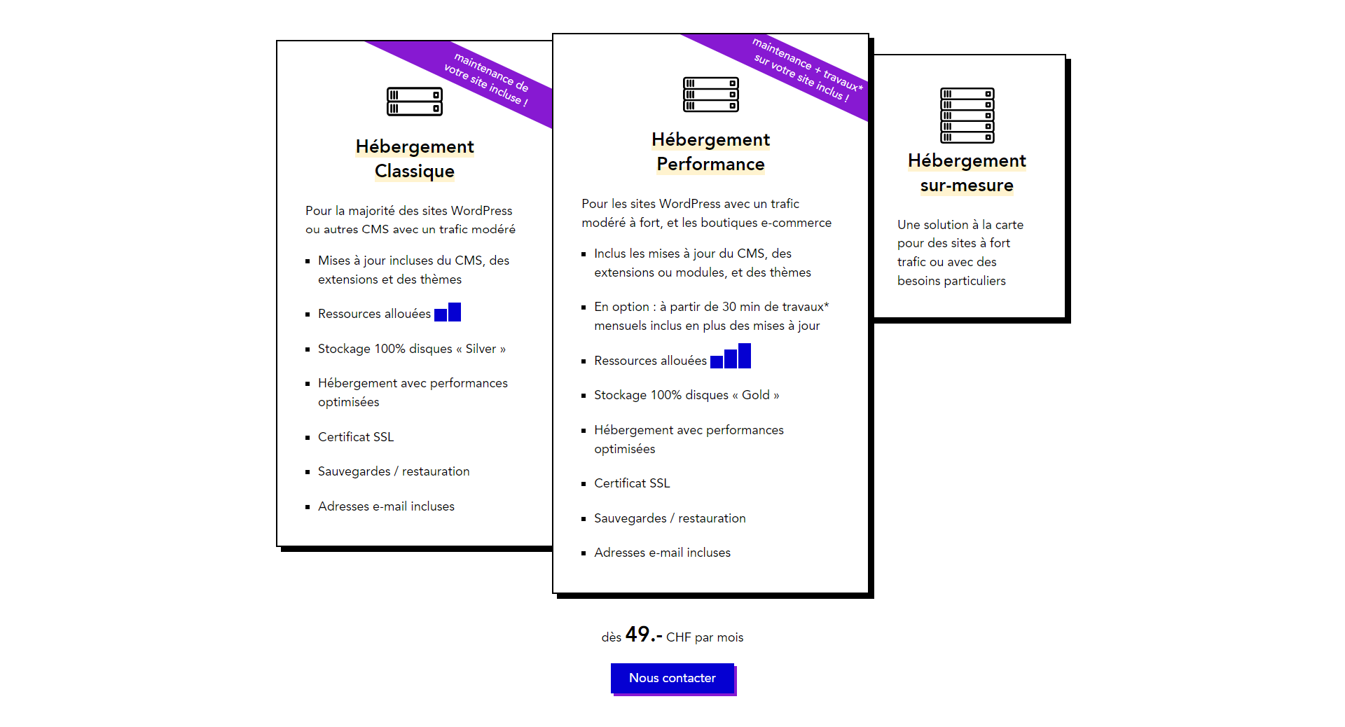 CDI digital experiences hébergement - projet