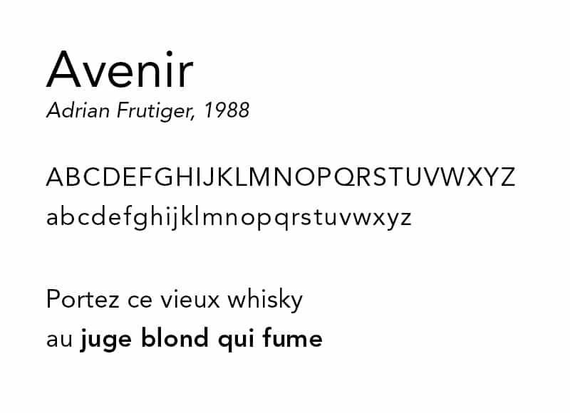 Avenir - typographie