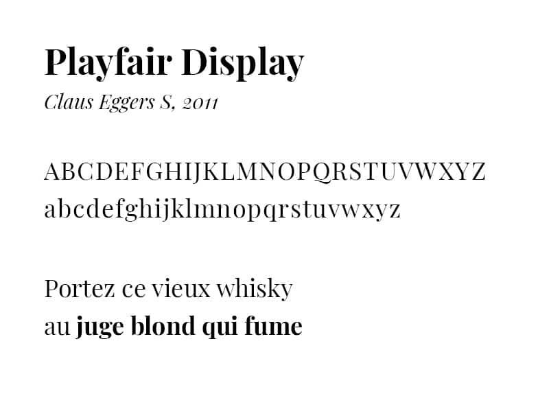 PlayfairDisplay - typographie