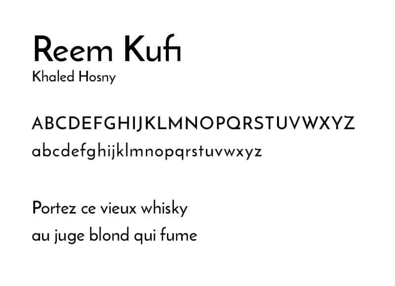 Reem Kufi - typographie